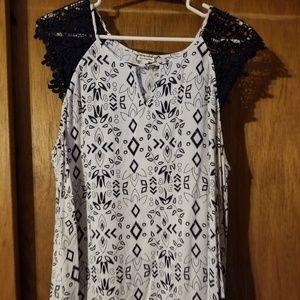 Keyhole blouse